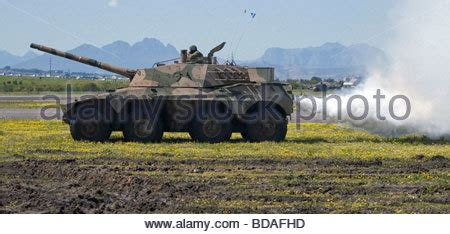 a rooikat 76 armoured fighting vehicle stock photo