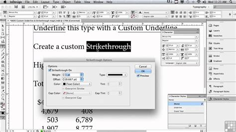 Adobe InDesign CS6 Tutorials | Underline & Strikethrough ... Indesign Tutorials Cs6