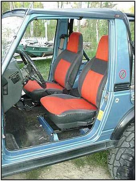 Suzuki Samurai Seat Samurai Sidekick Seats Installed Izook Suzuki 4x4