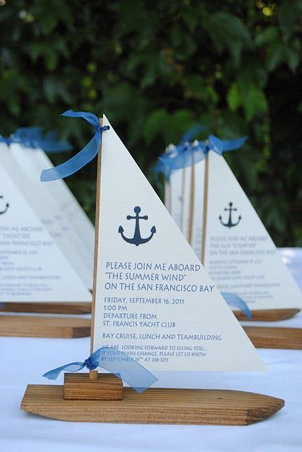 nautical inspired party invitations. And they have those