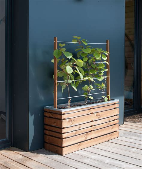 treillis terrasse jardini 232 re bois rectangle ligne z 100 avec treillis