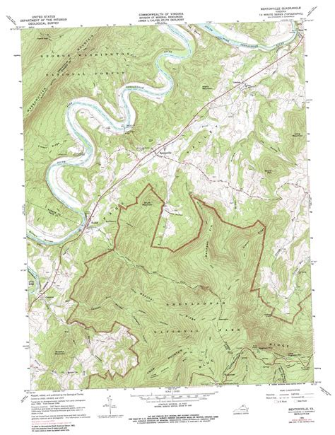 virginia topographic map bentonville topographic map va usgs topo 38078g3