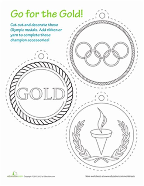 printable olympic medals coloring page education com