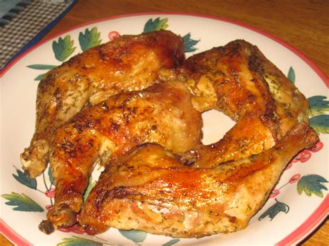 crispy herb baked chicken leg quarters the random chef