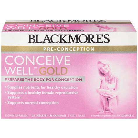 Blackmores Conceive Well Gold Original 1 Buy Blackmores Conceive Well Gold 56 Tablets 28 Tablets