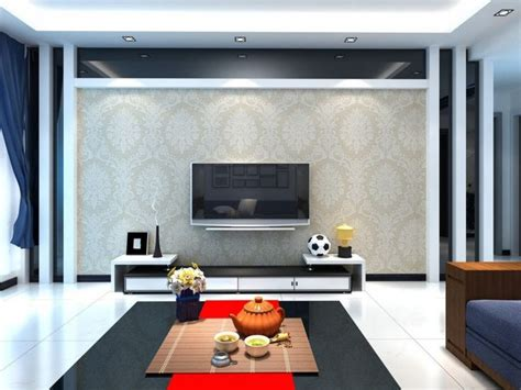 Luxurious Living Room Design With TV On The Wall Ideas