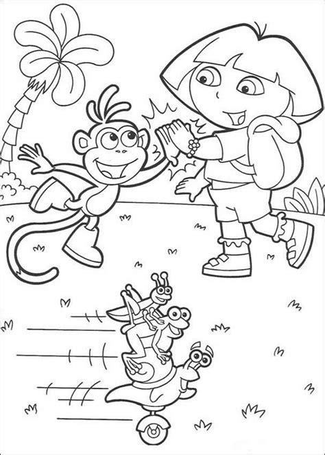 dora the explorer swiper the fox coloring page dog