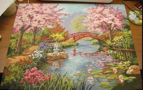 japanischer garten zeichnung japanese garden paint by numbers 183 a drawing or painting