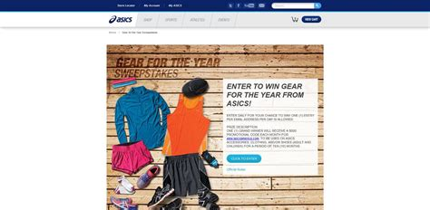 Are Sweepstakes Legal - asics gear for the year sweepstakes