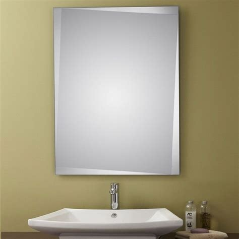 unframed bathroom mirrors decoraport unframed bathroom silvered mirror vanity wall