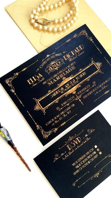 identity theme in the great gatsby template the great gatsby invitation template