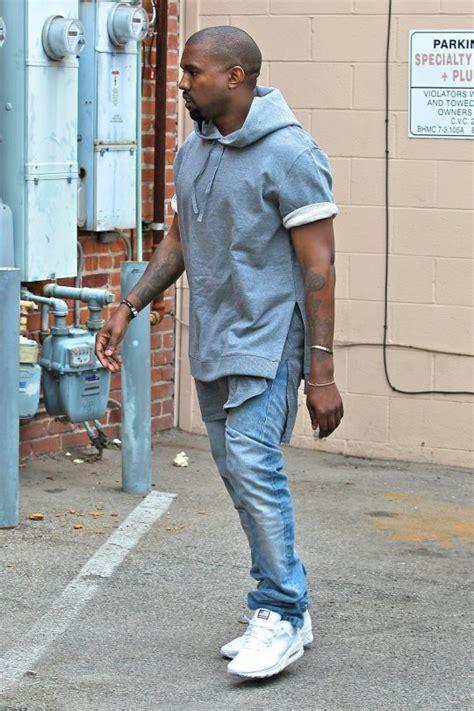 kanye west wears gray hoodie  apc  kanye collection