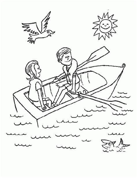 row row row your boat coloring page coloring home