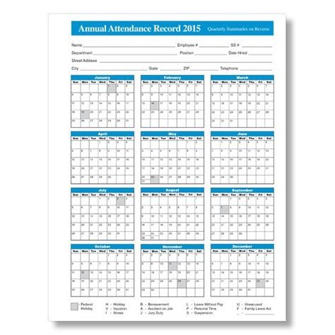 2015 Employee Attendance Calendar Free Printable Attendance Calendar 2016 2016 Calendar Free 2018 Employee Attendance Calendar Templates At Allbusinesstemplates