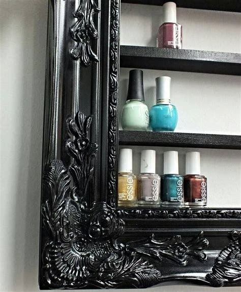 etagere nagellack etag 232 re vernis cadre nail framed shelf rangement