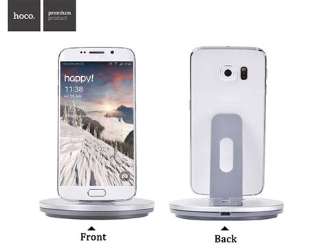 Hoco Desktop Charger Charge Dock Micro Usb Smartphone Cw1 Silver hoco desktop charging dock micro usb for smartphone cw1