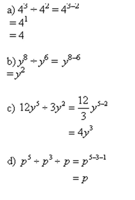 subtracting exponents (with worked solutions & videos)