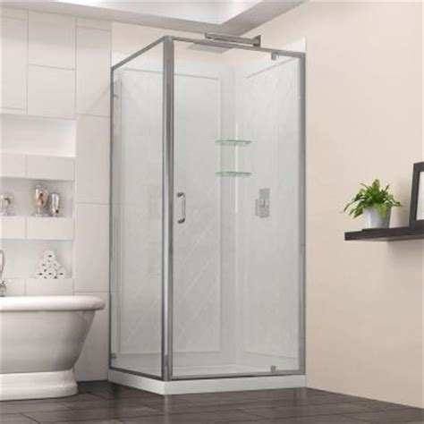 30 X 36 Shower Stall Dreamline Flex 36 In X 36 In X 76 75 In Corner Pivot