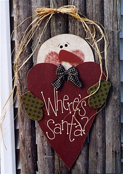 Wooden Door Hanger Patterns by Where S Santa Instant E Pattern Door Hangersanta