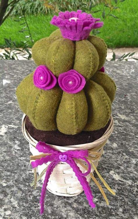piante ricanti con fiori viola cactus in feltro con fiori viola per la casa e per te