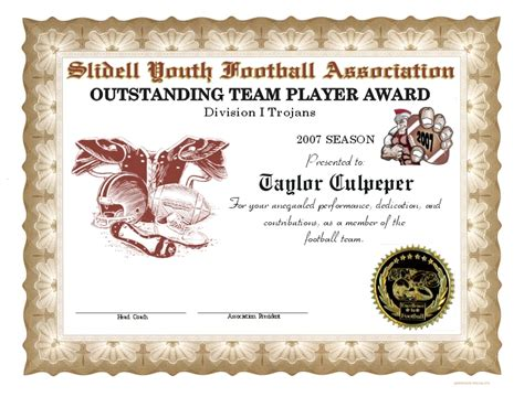 football award certificate template football award certificate template search results