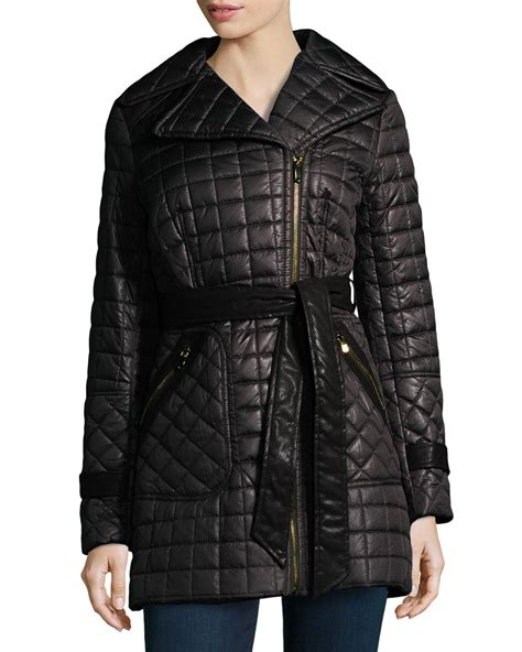 Via Spiga Jacket For by Lyst Via Spiga Quilted Zip Front Jacket In Black