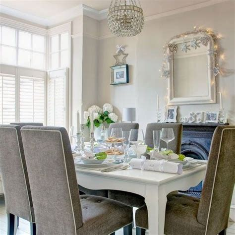 Gray Dining Room Ideas 1000 ideas about upholstered dining chairs on pinterest