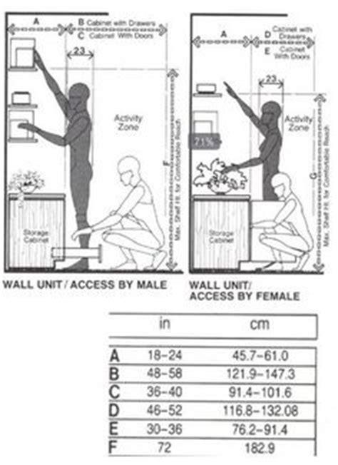 kitchen layout ergonomics human measurements dimensions for the human figure