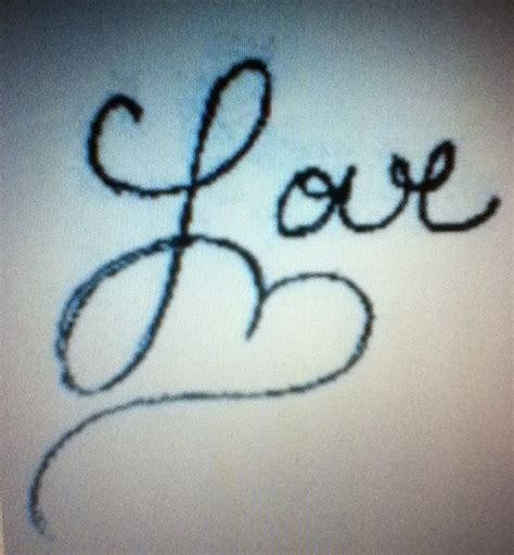 love writing tattoo designs cursive writing