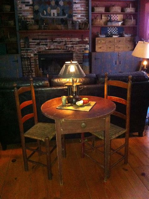 keeping room furniture red tavern table from new england primitive colonial