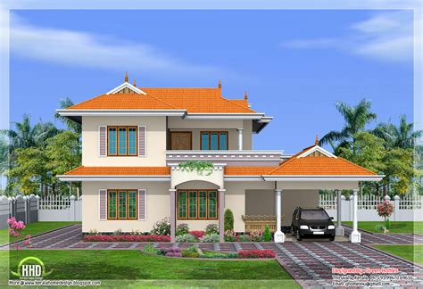 home designs india 4 bedroom india style home design in 2250 sq feet kerala
