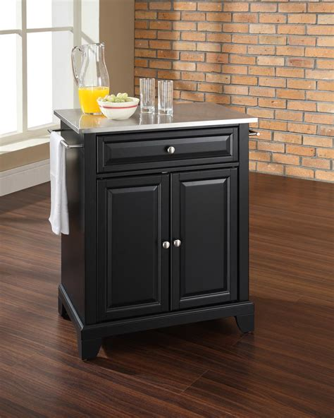 portable kitchen islands crosley newport portable kitchen island by oj commerce kf30022cbk 289 00