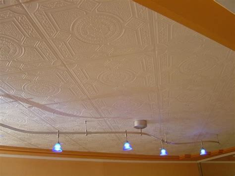Replacing A Popcorn Ceiling by Photo Ceiling Tiles