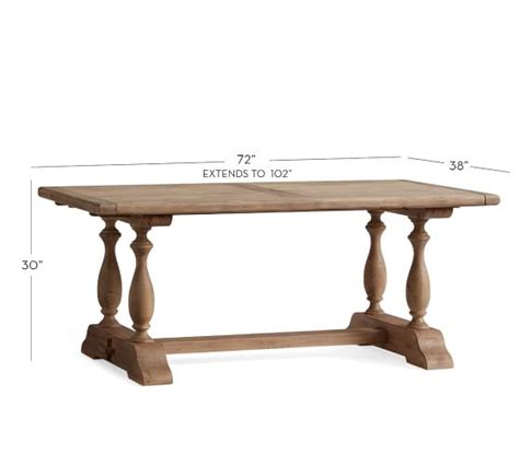 Square To Rectangular Extending Dining Table Parkmore Extending Dining Table Pottery Barn