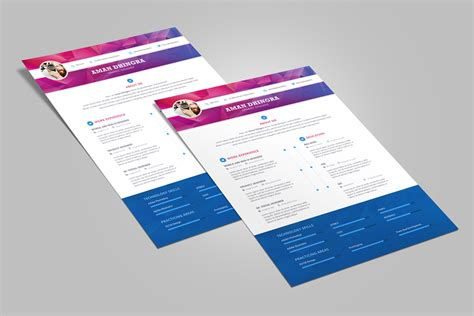 free professional resume cv design template for