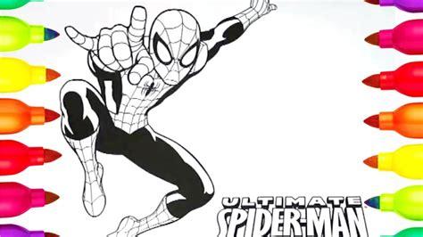 dibujos para pintar hombre araña ni 241 os super h 233 roe para colorear el hombre ara 241 a para