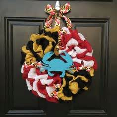 maryland wreath for front door i used a crab basket top as the base welcome