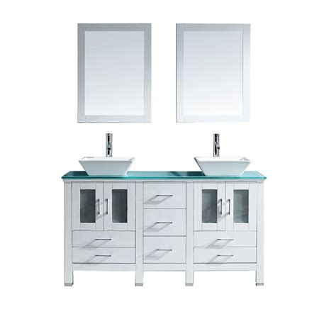 virtu usa bradford 60 in w x 22 in d vanity in white