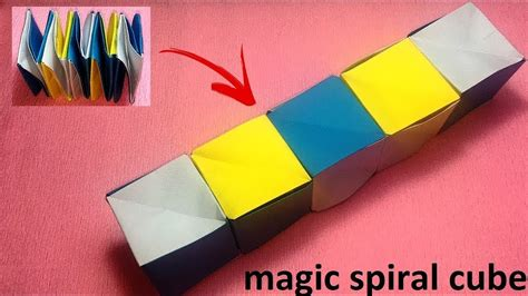 Origami Magic Easy - origami magic spiral cube origami for step by