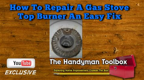 roden gas cooktop how to repair a gas stove top burner an easy fix