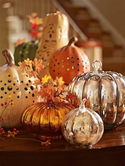 Glass Pumpkin Decorations by Pottery Barn Pumpkins Fall Decor Fall Decoration