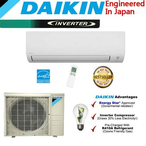 Ac Daikin Split Wall daikin 18 000 btu 18 seer heat air conditioner