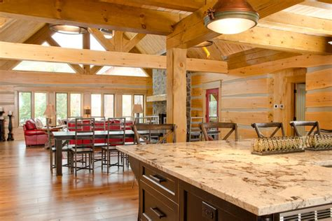 Blue Mountain Kitchen by Blue Mountain On Custom Log Home Traditional Kitchen