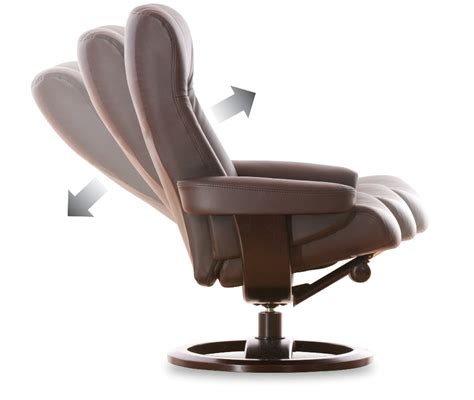 smart recliner freya leather recliner chair and footstool standard