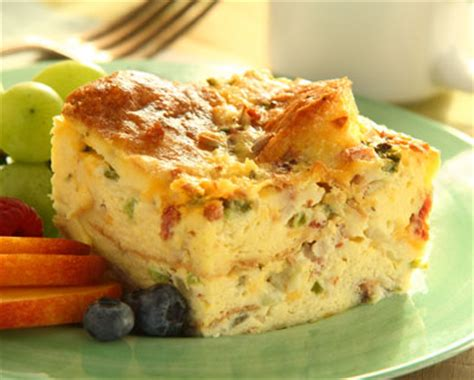 egg strata casserole spinach and egg strata recipe dishmaps