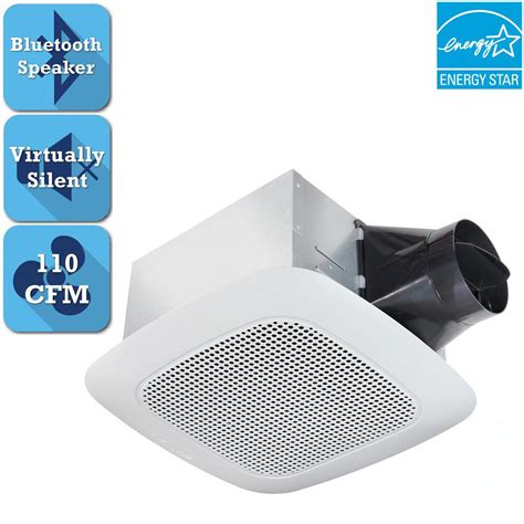 exhaust fan with bluetooth speaker nutone invent series 110 cfm ceiling exhaust bath fan with