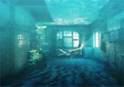bedroom under water underwater room by kallestar23 on deviantart