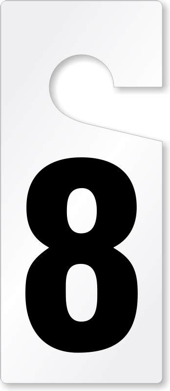Hanger Mumer 8 Numbered Door Hanger Door Number Hang Tags Low