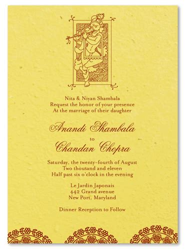 wedding reception invitation wording sles india indian wedding invitations krishna also available in 100 recycled paper