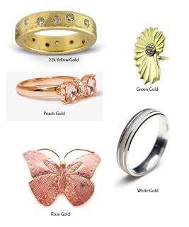 different colors of gold different colors of gold yellow white green by